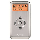 PURE MOVE 2500 RECHARGEABLE PORTABLE DAB/FM RADIO (SILVER)
