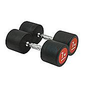 Bodymax Pro V3 Rubber Dumbbells - 7kg