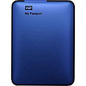 Western Digital My Passport 1TB Portable Hard Drive USB 3.0 External (Metallic Blue)