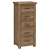 Kelburn Furniture Lyon 5 Drawer Wellington Chest