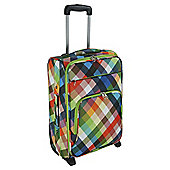 Tesco 2-Wheel Medium Diamond Print Suitcase