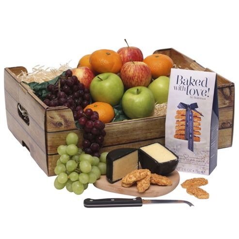 Fruit Basket with Cheese & Crackers