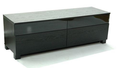 RGE Base 2 Drawers Multi-Media TV Storage and Display Unit - Foil Black Oak Structure