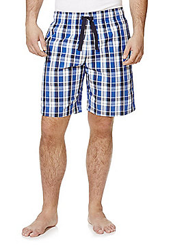 F&F Checked Woven Lounge Shorts - Blue