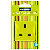 2 way - Non-fused - Adaptor - Light Green (382C) - Status - 1 pk - Blister Card