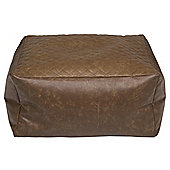 Kaikoo Faux Leather Quilted Bean Bag Slab, Tan