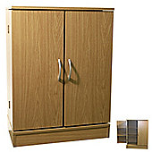 Columbus - Double Door Cd Dvd Media Storage Cabinet - Oak