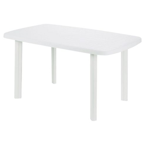 Faro Plastic Rectangular Table White