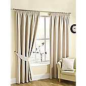 Ribeiro Chenille Pencil Pleat Curtains - Cream