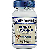 Life Extension Gamma E Tocopherol with Sesame Lignan 60 Softgels