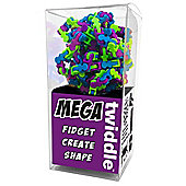 Mega Twiddle - 175pc Multi-coloured Purple, Green & Blue Plastic Fidget Fiddle Toy