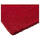 Plain Dye Wool Rug 60x120 Red