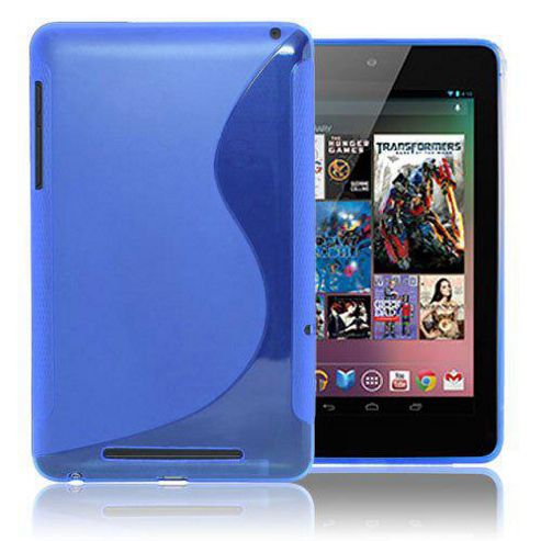 U-bop gSHELL Tough All Body Gel Case Smoke Blue - For Google Nexus 7
