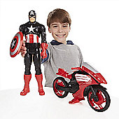 Marvel Avengers Titan Hero Series Captain America with Defender Cycle