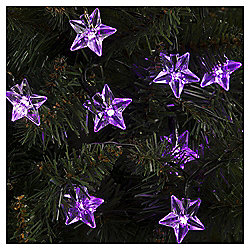 20 Starlight Christmas Lights, Pink and Purple