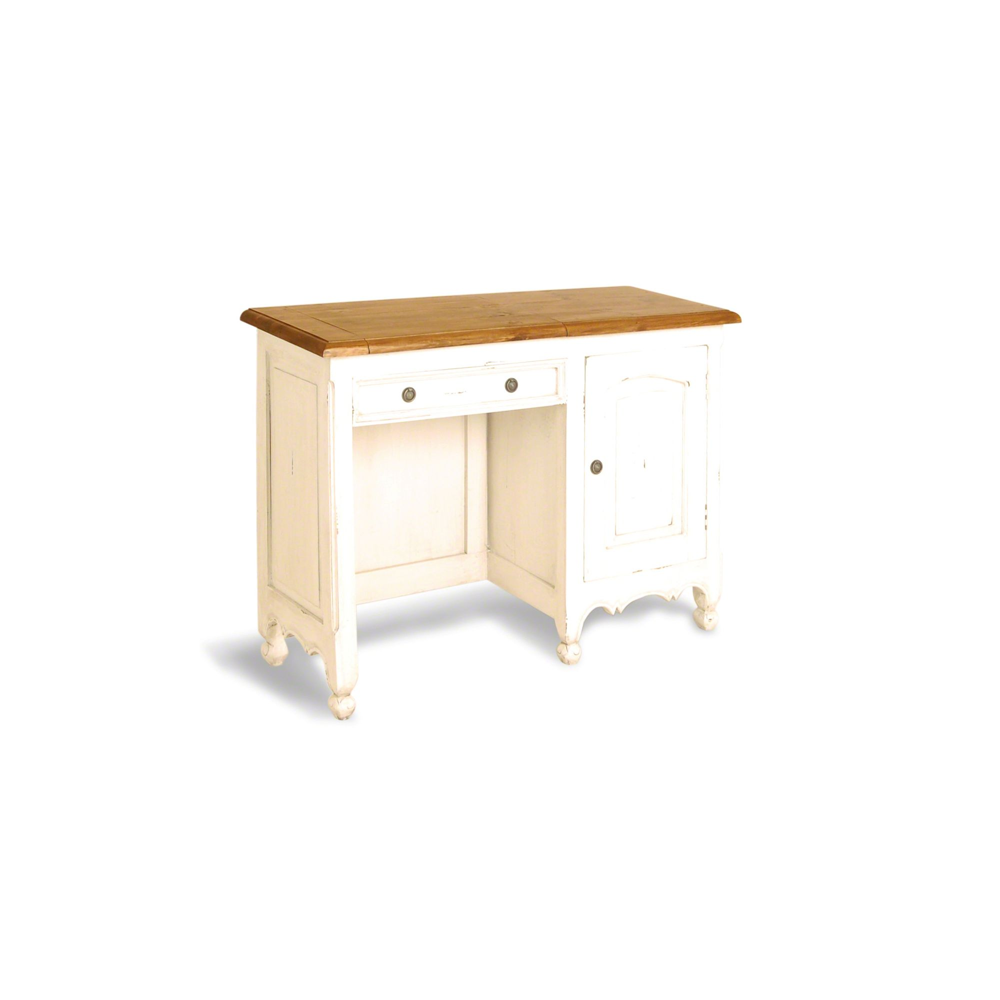 Oceans Apart Painted Provence Small Vanity Table in Antique White at Tesco Direct