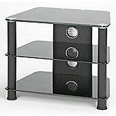 "Jual Furnishings 28"" Corner TV Stand - Black / Black"