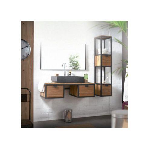 Tikamoon Urban Duo Acacia Vanity Cabinet