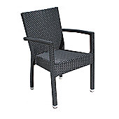 Cozy Bay Cumberland Armchair in Black 4 Line