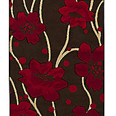 Oriental Carpets & Rugs Verona 216 Brown/Red Rug - 80cm x 150cm