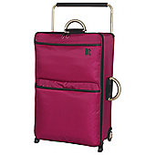 IT Luggage World's Lightest 2-Wheel Large Cerise Suitcase