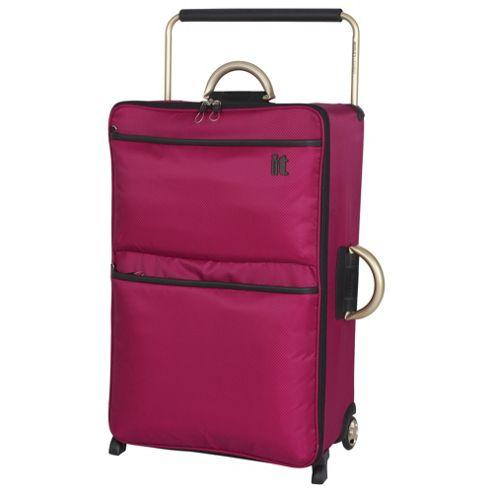 buy it luggage world 39 s lightest 2 wheel large cerise. Black Bedroom Furniture Sets. Home Design Ideas