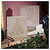 Foil Tree and Wreath Christmas Cards, 10 pack
