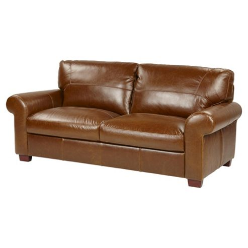 Buy Ledbury Large 3 Seater Leather Sofa Tan From Our