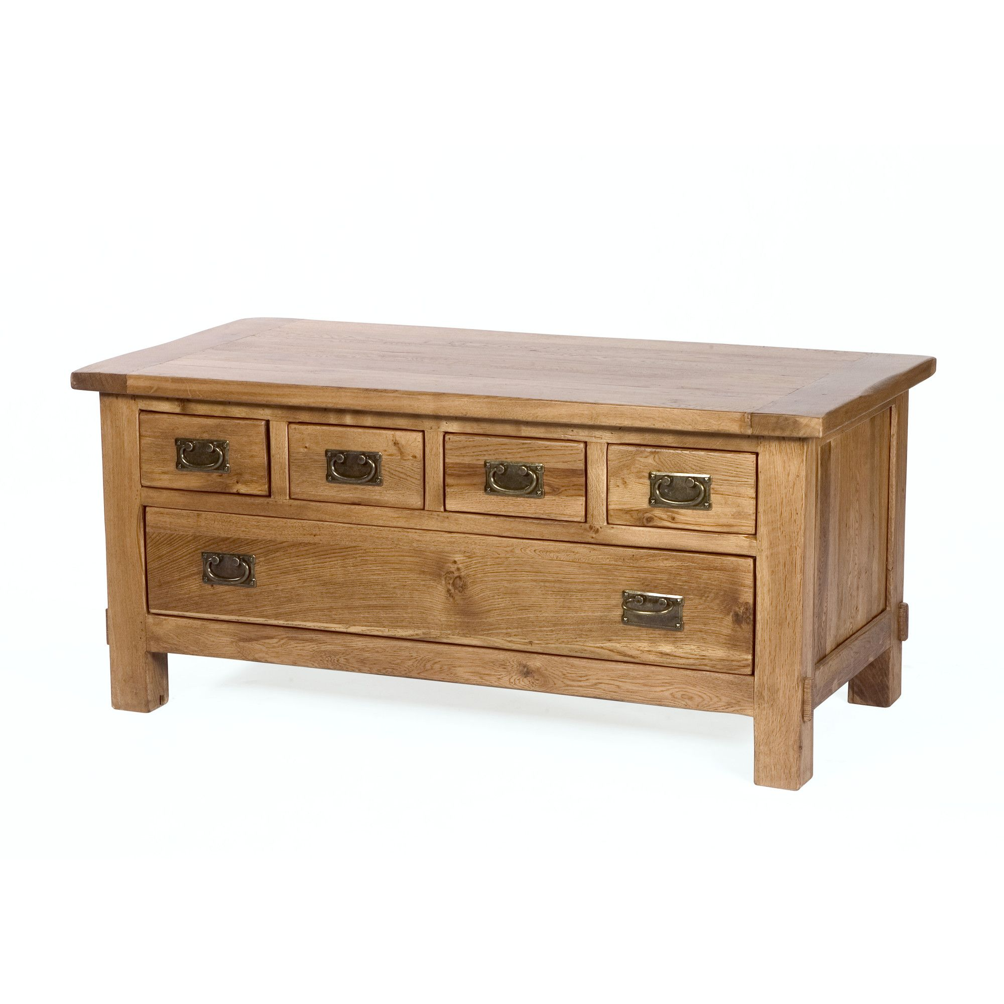 Wiseaction Riviera Coffee Table with Five Drawer at Tesco Direct