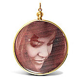 Jewelco London 9ct Yellow gold large picture frame Pendant with plastic casing