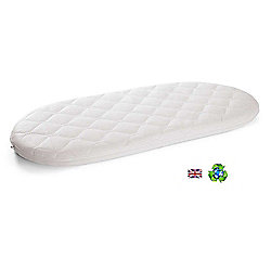 PreciousLittleOne Non Allergic Eco Fibre Quilted Moses Basket Mattress (67x30)