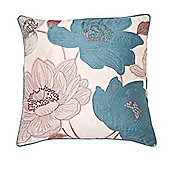 Catherine Lansfield Hannah Cushion Cover - Teal