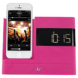 Kitsound X-Dock with FM Radio for iPhone 5/5s, Pink