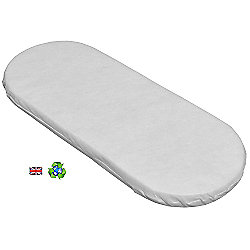 PreciousLittleOne Non Allergic Eco Fibre Moses Basket Mattress (75x30)