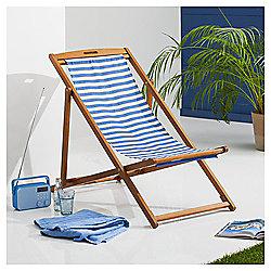 Wooden deck chair new stripe