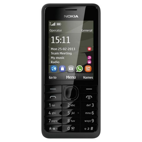 Tesco Mobile Nokia Asha 301 Black