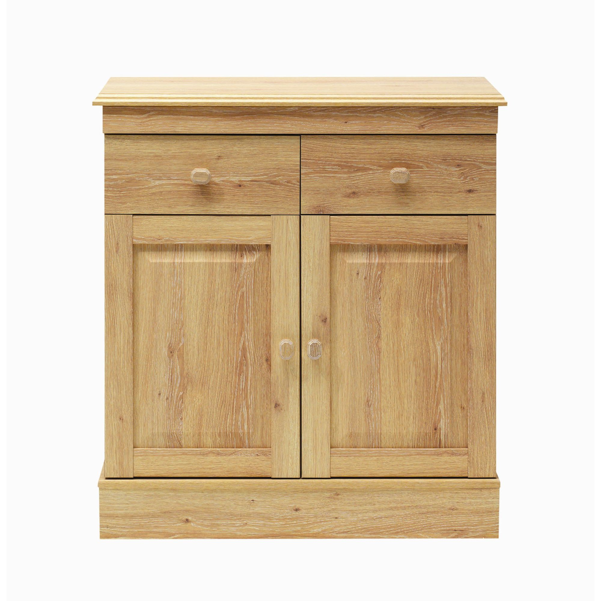 Caxton Driftwood Two Door Sideboard in Limed Oak at Tesco Direct