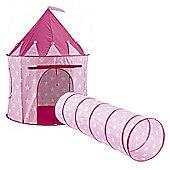 Kids Concept Sweden Pop Up Laktalt Play Tent & Laktunnel Play Tunnel Pink Star