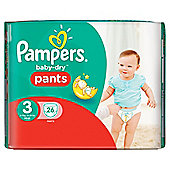 Pampers Baby Dry Pants Size 3 Carry 26