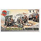 25PDR Field Gun & Morris Quad (A01305) 1:76