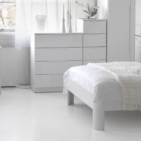 Alto Furniture Visualise Alpine Four Drawer Chest - White