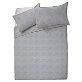Tesco Chambray Print Duvet Set  Kingsize Grey