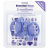 Tesco Everyday Value Latex Soothers 6-18 Months, 2 pack