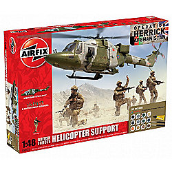 Airfix Kit British Forces Helicopter Support 1:48 Scale Model Set