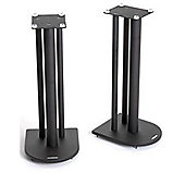 Pair of Speaker Stands in Black - Height 60cm