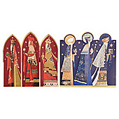 Tesco 3 Kings Christmas Cards, 12 Pack