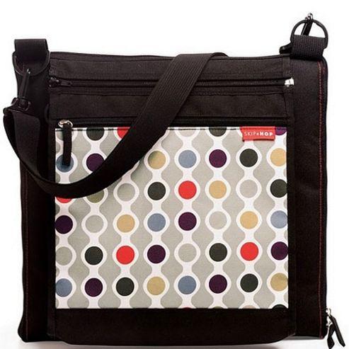 Skip Hop Central Park Outdoor Picnic Blanket and Cooler Bag Wave Dot
