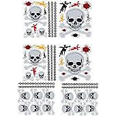 Skulls, 56 Glow in the Dark Quick-Sticks