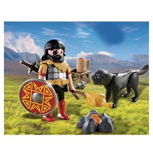 Playmobil Barbarian with Dog at Campfire