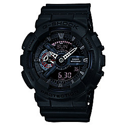 Casio G-Shock Mens Black World Time Stopwatch Watch GA-110MB-1AER